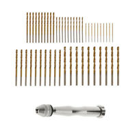 Mini Hand Drill Chuck & 50pcs Twist Drill Bit Set, Woodworking Rotary Tool