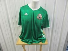 ADIDAS MEXICO NATIONAL FOOTBALL TEAM SEWN 2XL HOME/GREEN JERSEY 2016/17 KIT