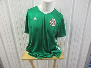 ADIDAS MEXICO NATIONAL FOOTBALL TEAM SEWN 2XL HOME/GREEN JERSEY 2016/17 KIT