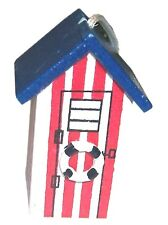 BEACH HUT CORD PULL LIGHT SWITCH TOILET BATHROOM SWITCH RED WHITE SEASIDE HOUSE