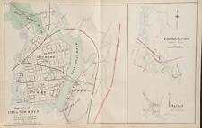 Antique Map East Part City of New Haven Connecticut Hurd 1893