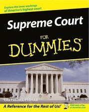 Supreme Court For Dummies: By Paddock, Lisa