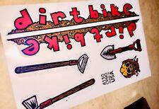 S&m Dookie Dirtbike Stickers Mid School Repro Vinyl Bmx 90s Dirt Bike Decals