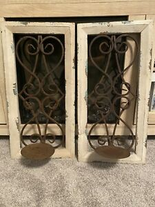 Rustic Wall Candle Holder Set!!