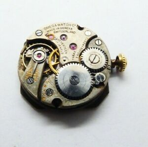 Vintage small omega manual  Watch Movement 17 JEWELS fur parts  (K273)