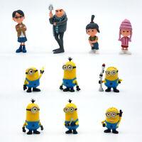 10pcs Despicable Me 2 Minions Gru Lucy Agnes PVC Action Figures Toys Cake Tooper
