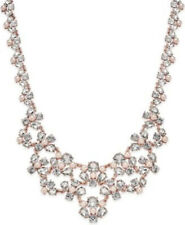 $69.50 NWT Charter Club Rose Gold Clear Crystal Imitation Pearl Necklace