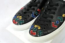 BNIB D.A.T.E. JIMI ROOS LEATHER Trainers Shoes Sneakers Black Game EU41 uk8 RARE