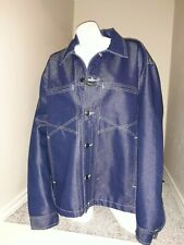 Vintage Marithe Francois Girbaud denim blue jean jacket men's XL dark coat 90's