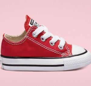 New Adorable Converse Chuck Taylor All Star Kids Shoes (Toddler) Size 7 Red
