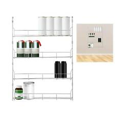 4  TIER SPICE HERB JAR RACK HOLDER FOR KITCHEN DOOR CUPBOARD STORAGE WALL