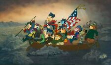 Hanna Barbera-Crossing The Delaware LE Cel Signed By Hanna and Barbera