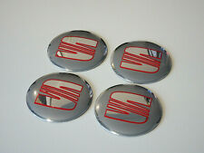 Seat Emblem Wheel Center Cap Sticker Logo Badge Wheel Trims 56mm Set of 4