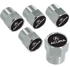 Acura Logo Chrome Valve Stem Cap Covers 5 Caps