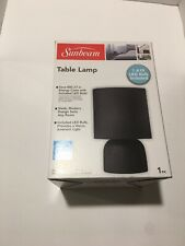 NEW! Sunbeam Black Table Lamp with LED Bulb Included