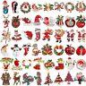 Cute Red Crystal Christmas Santa Claus Garland Snowman Brooch Pin Corsage Xmas