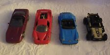 Lot of 4 Toy Cars (1) Jeep (3) Maisto Vehicles Ferrari Red Blue Porsche