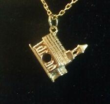 Vintage 14k  Solid Yellow Gold 3D  Mini Church Charm / Pendant