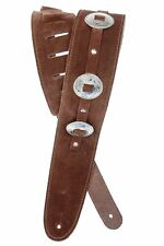 D'Addario Planet Waves Conchos Brown Leather Guitar Strap