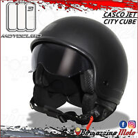 CASCO MOTO SCOOTER JET UNIVERSALE MOTOCUBO CITY CUBE NERO OPACO TAGLIA L