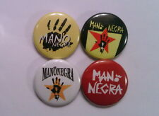 "4 x Mano Negra 1"" Pin Button Badges ( manu chao france music )"