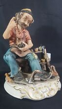 Vintage Capodimonte Figure - The Cobbler - Signed Frmete (2)