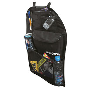 Back Seat Car Organiser Travel Storage Tidy Kids Protector holder pockets drinks