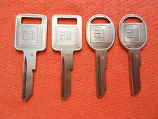 4 CADILLAC BUICK CHEVY KEY BLANKS 1970 1974 1978 1982