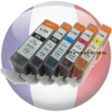 Pack 5 cartouche d'encre compatible PGI525 CLI526 pour imprimante Canon MG 5150