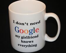 Personalised Mug, Birthday Gift, Google, Girlfriend,  all occasions handmade