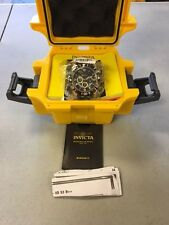 MENS Invicta PRO DIVER 23702 Watch Black Gold Dial Chrono Stainless Steel #3
