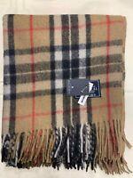 100% Wool Blanket | The House Of Balmoral Scotland | Camel Thomson | Tartan