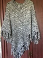 Gorgeous Chunky Knit Poncho Grey Marl From Wallis One Size