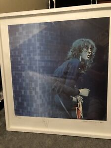 Jimmy Page signed & framed Artist Proof Silkscreen print 18/30 Led Zeppelin