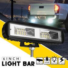 6 Inch 48W 16 LED Work Light Bar Truck 4WD Offroad Flood Beam Driving Fog Lamp
