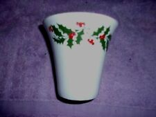 Ceramic Round Succulent Plant Pot, Small Flower Planter holly pattern