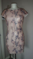 Next- Rare London Gorgeous Snake pattern Sequins fully lined Dress Size 8