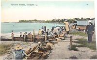 .EARLY 1900s SANDGATE (BRIGHTON), QLD, FLINDERS PARADE RETRAC SERIES POSTCARD.