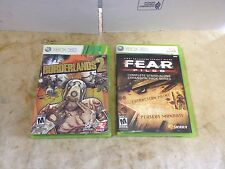 Fear Files Expansion Pack Complete Xbox 360 Tested & Boarder Lands 2