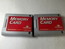 2 NEW 256K PERFORMANCE 123 BLOCKS OF MEMORY CARD FOR THE NINTENDO 64 N64 A21