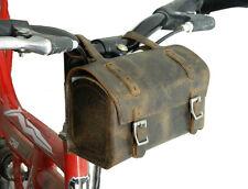 Genuine Leather Bicycle Saddle Bag old vintage design multi tool Bag gift White
