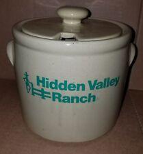 "McCOY HIDDEN VALLEY RANCH YELLOW STONEWARE CROCK JAR LID 6 3/4"" X 8 1/2"""