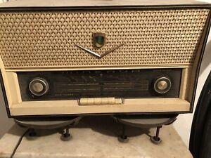 radio a valvole minerva modello 586/9 raro, antico anni 50 funzionante