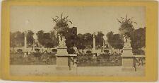 Paris Jardin France Photo Stereo L5n59 VintageAlbuminec1870