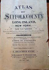 ORIGINAL 1909 E. BELCHER HYDE SUFFOLK COUNTY NY TITLE PAGE ATLAS PLAT MAP