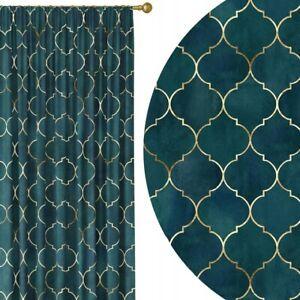Marrocan Curtains Pencil Pleat Curtain Living Room Bedroom W 55''x D95'' Pair