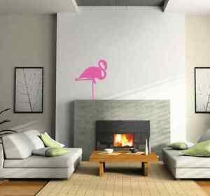 Flamingo silhouette living room wall sticker - vinyl wall art