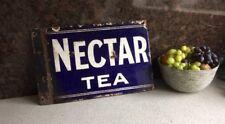 Antique Nectar Tea Double Sided Enamel Sign 39x26cm