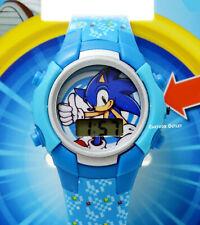 Sonic The Hedgehog Watch Kids Boys Digital Wristwatch Flashing Lights Reloj Gift