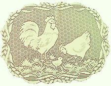 Placemats Rooster 14x19 Ivory Lace Placemats Set Of (4) Oxford House